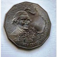 Австралия 50 центов, 1970 200 лет австралийскому путешествию капитана Кука 3-7-16