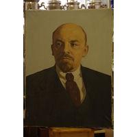 Портрет В.И. Ленин  ( холст , масло  60 см х 80 см )