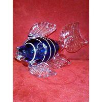 Рыбка рыба СССР стекло статуэтка фигурка