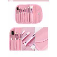 Набор кисточек для макияжа (7 штук) - Розовый
