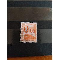 1960 Франция марка оплаты пересылки посылок (пакетов) по железной дороге поезд паровоз Ивер 31 оценка 2 евро (2-6)