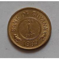 1 цент 1989 г. Гайана