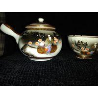 Чайник с пиалой для чайной церемонии. 1920-1950гг