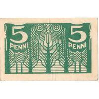 Эстония, 5 пенни, 1919 г.