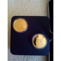 Рысь . 50 рублей , золото , 2008 год. Тираж 2.000 шт. Проба золота: 999