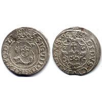 Шеляг 1596, Сигизмунд III Ваза, Рига, Коллекционное состояние.