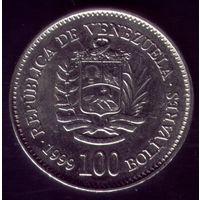 100 Боливарес 1999 год Венесуэла