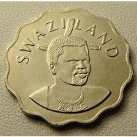 """Эсватини """"Свазиленд"""" 5 центов 1999 год KM#48 """"Король Мсвати III"""" """"Белая лилия"""""""