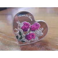 Монета-сердце ''Я тебя люблю''