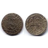 Шеляг 1652, Ян II Казимир Ваза, Вильно. Старая патина, коллекционное состояние