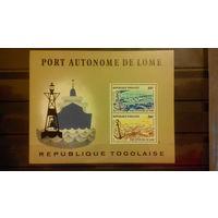 Корабли, транспорт, флот, моренистика, марки Того,  блок