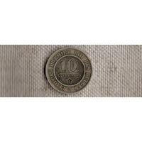 Бельгия 10 сантимов 1862/(Qu)
