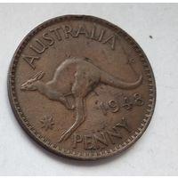 Австралия 1 пенни, 1948 Без точки 3-13-6