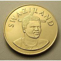 """Эсватини """"Свазиленд"""". 5 эмалангени 2008 год  КМ#55  """"40 лет Независимости"""" """"Король Мсвати III"""""""