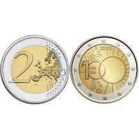 2 Евро Бельгия 2013 Метеорологический институт UNC из ролла