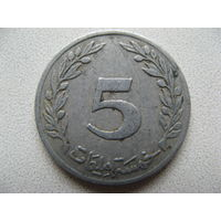 Тунис 5 миллимов 1983 г.