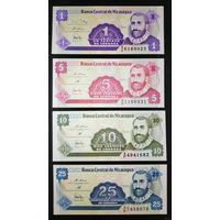 РАСПРОДАЖА С 1 РУБЛЯ!!! Никарагуа 1, 5, 10 и 25 сентаво 1991 год UNC