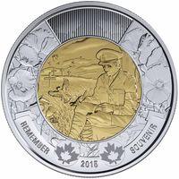 Канада - 2 доллара 2015 - на полях Фландрии