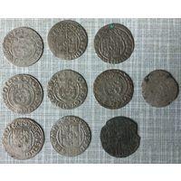 Монеты Речи Посполитая полтораки,с рубля без мпц ,10 монет одним лотом.