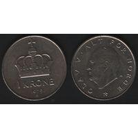 Норвегия km419 1 крона 1979 год (AB) (f50)nr0(ks00)