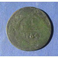 Деньга 1754 года.