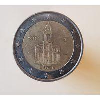 2 евро 2015 Германия Федеральные земли Гессен F