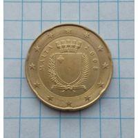 Мальта 20 центов 2008г.