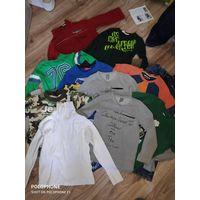 Лот одежды на мальчика 12 маек и 3 штанов, рост 110-116