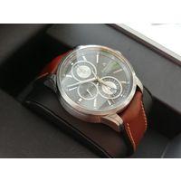 Топовые швейцарские часы Maurice Lacroix линейка Pontos реф PT6188-SS001-430 (PT6178/88), хронограф, автомат, обслужены, оригинал!