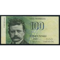 Финляндия. 100 Марок 1986 года. P115. VF+