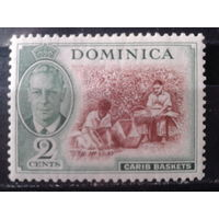 Доминика 1951 колония Англии Король Георг 6*