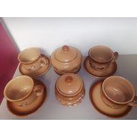 Керамический чайный набор на 4 персоны