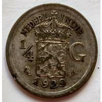 Голландская Ост-Индия 1/4 гульдена, 1929 1-7-40
