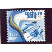 Эстония. Зимние олимпийские игры в Сочи 2014
