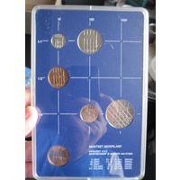 Нидерланды годовой сет монет 1984 в банковской пластиковой упаковке - UNC