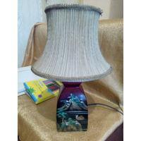 Лампа настольная  с абажуром.