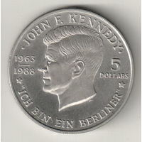 Ниуе 5 доллар 1988 Кеннеди