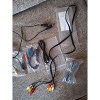 Шнуры соединительные для аудио и видео аппаратуры  S video плюс кабель телефонный