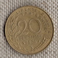 20 сантимов 1976 Франция KM# 930 алюминиевая бронза