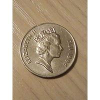 Фиджи 10 центов 1994г.