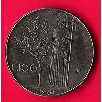 01-17 Италия, 100 лир 1981 г.