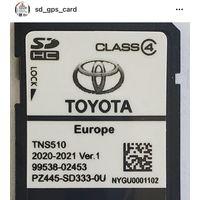2020/2021 Toyota TNS 510 карта SD Corolla Avensis RAV4
