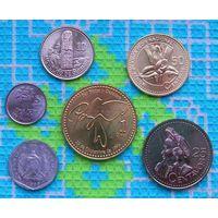 Набор монет Гватемала 1, 5, 10, 25, 50 центавос, 1 Кетсаль. UNC.