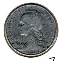 Джибути - Французский Сомали 5 франков 1959 года.