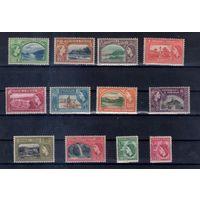 Тринидад и Тобаго  колония Великобритании легкие следы наклеек 38 михель-евро