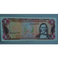Доминикана 5 песо unc