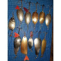 Блесна для рыбалки СССР 11 штук