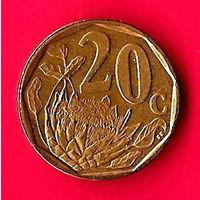 45-02 ЮАР, 20 центов 2008 г.