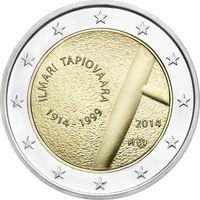 2 евро 2014 Финляндия 100 лет со дня рождения Илмари Тапиоваара UNC из ролла