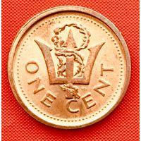14-20 Барбадос, 1 цент 2010 г.